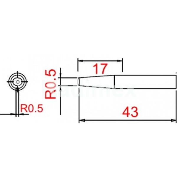 Човка за поялник SI216-B