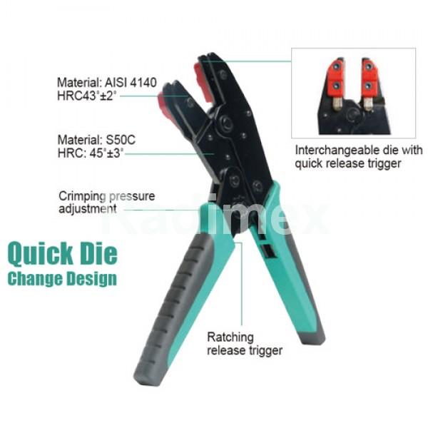 Клещи за кримпване без челюсти CP3005F