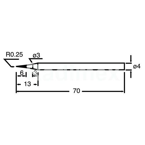 Човка за поялник PKS120-4SB